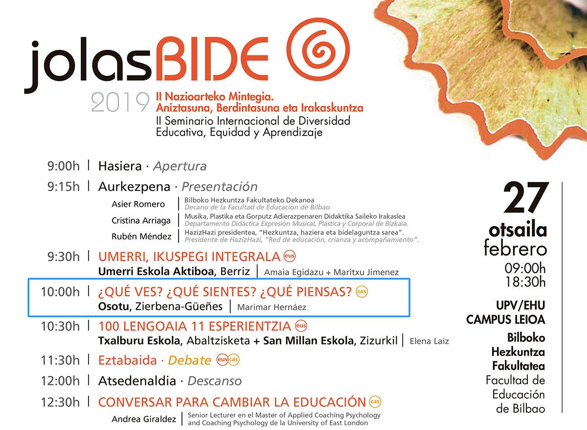 Ponencia de Osotu en el II Seminario Internacional de Diversidad Educativa